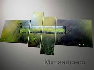 Tableau Contemporain Grand Format : tableaux grand format multicolore tableau art deco moderne peinture abstraite ~ Teatrodelosmanantiales.com Idées de Décoration