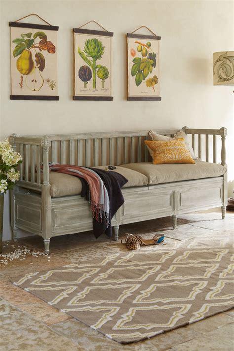 Small Living Room Storage Bench  Home Decor Ideas