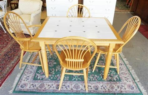tile top kitchen table and chairs tile top kitchen table and 4 chairs 37 1 2 x 45 1 2 inch to 9470