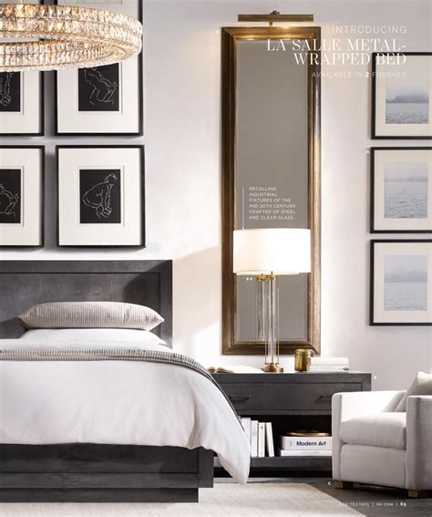 Glamorous Bedroom Mirrors by The Mirrors Nightstands Framing The Bed On