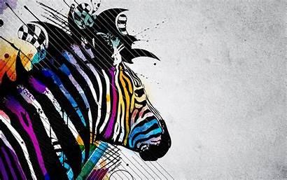 Zebra Rainbow Background Designs Backgrounds Desktop Wallpapers