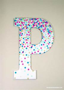 confetti decorative letters for wall decor mod podge rocks With letters to decorate