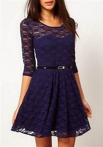 Secrets To Looking Good In A Navy Blue Lace Dress Revealed ...