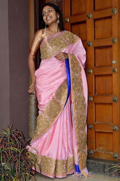 uppada silk with zari border aashiaanya couture silk saree and attire