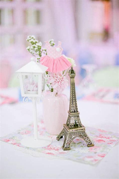 Pink Ballerina In Paris Themed Birthday Party