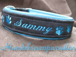Hundehalsband Mit Namen Leder : halsband leder gepolst mit namen tel nr bestickt ebay ~ Yasmunasinghe.com Haus und Dekorationen