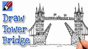 London Bridge Dessin : how to draw london 39 s tower bridge youtube ~ Dode.kayakingforconservation.com Idées de Décoration