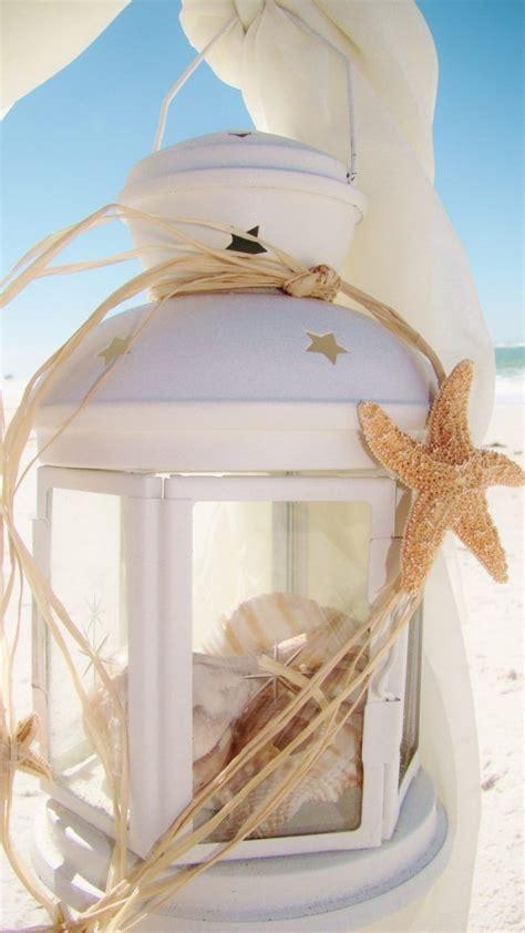 sommer deko ideen windlichter kerzenlaterne strand