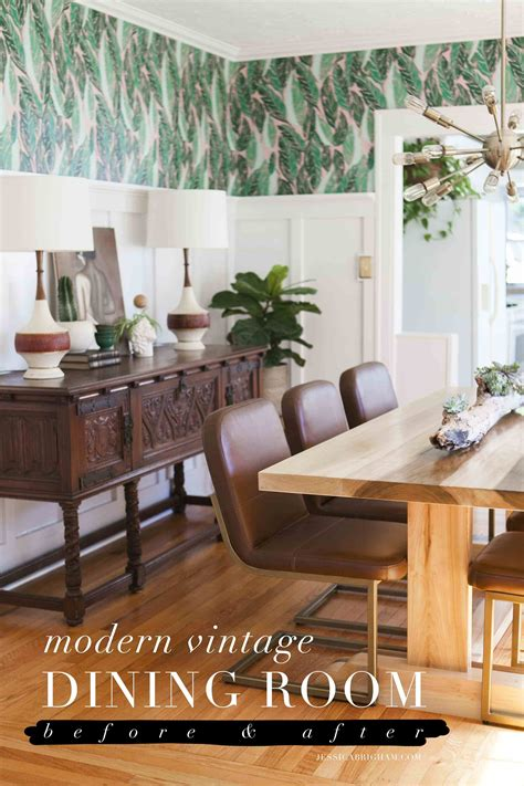 home modern decor before after modern vintage dining room reveal