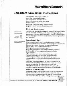 Important Grounding Instructions  Electrical Requirements