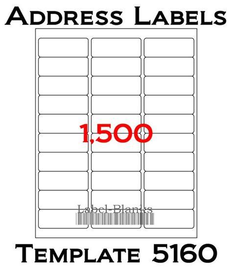 avery address labels 5160 template laser ink jet labels 50 sheets 1 x 2 5 8
