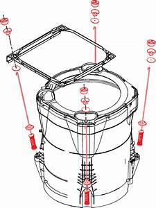 W10820048 W10189077 Whirlpool Suspension Rod Kit