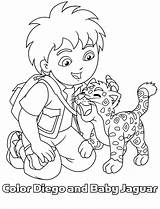 Diego Coloring Pages Jaguar Printable Baby Dora Cartoon Kleurplaat Kleurplaten Colouring Bestcoloringpagesforkids Prints Adventures Clip Popular Disney sketch template