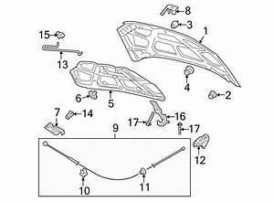 Chevrolet Aveo5 Hood Insulation Pad Clip  Sedan   W  O Zr1