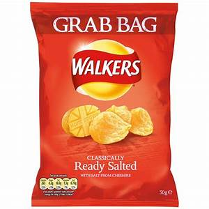 Buy Walkers Crisps Grab Bag - Ready Salted 50g x 32 for ...