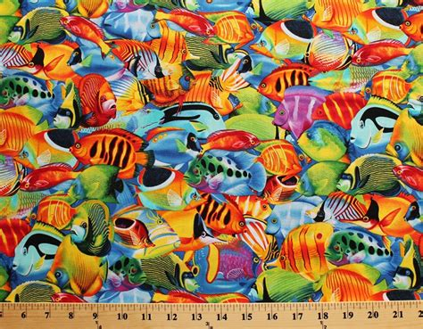 Cotton Fish Packed Colorful Fish Animal Ocean Cotton ...