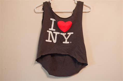 new yorker tops i new york crop top this original t shirt was cut