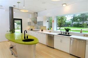 6 easy and simple steps for creating an eco green kitchen for Green kitchen cabinets for eco friendly homeowners
