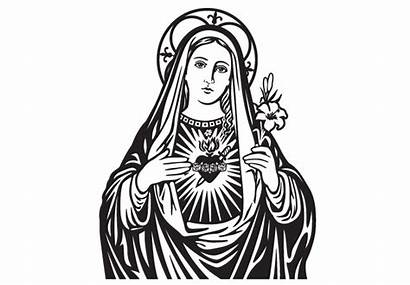 Virgin Mary Clipart Clip Mother Christ Child