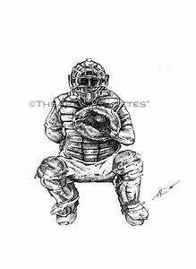 Baseball Drawings - theartoflax