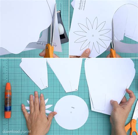 diy giant paper flower  dekorasi photobooth