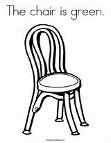 Chair Coloring Built California Usa sketch template