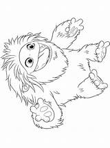 Everest Coloring Abominable Yeti Fun sketch template