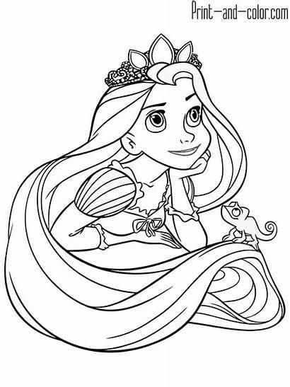 Rapunzel Coloring Pages Printable Disney Princess Tangled