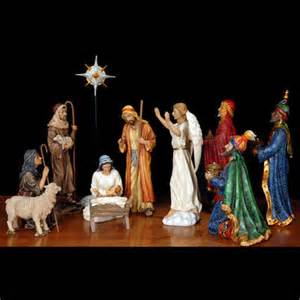 three real nativity set 10 pc 14 quot scale