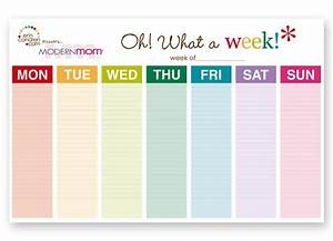 sunday school calendar template - modernmom weekly calendar modernmom
