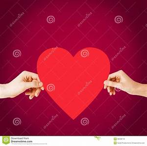 Couple Hands Holding Red Heart Royalty Free Stock Photos ...
