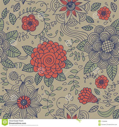 Floral Vintage Seamless Pattern Stock Vector ...