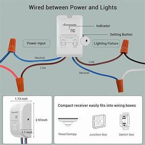 Wireless Light Switch And Receiver Kit
