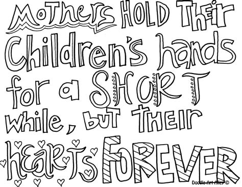 Mother's Day Coloring Pages And Crafts