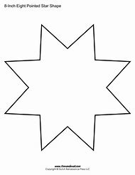 8 Point Star Template Printable
