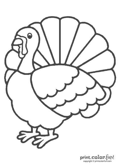 Coloring Turkey Pictures by Thanksgiving Turkey Coloring Coloring Page Print Color