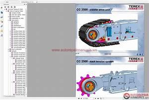 Terex Mobile And Crawler Crane Full Set Shop Manual Dvd