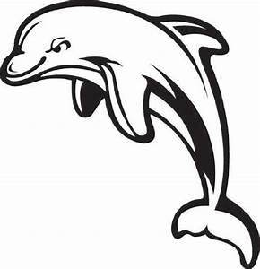 Dolphin Clip Art Black And White | Clipart Panda - Free ...
