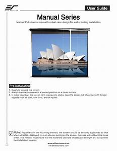 Elite Manual Screens User Guide