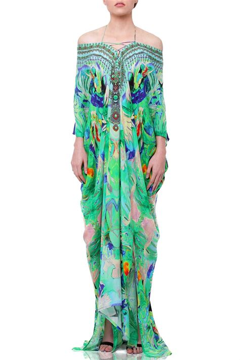 lace  kaftan dresses  mint green