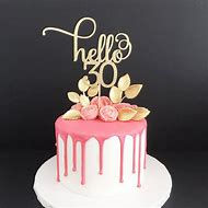 Hello 30 Glitter Cake Topper Any Age 30th Birthday