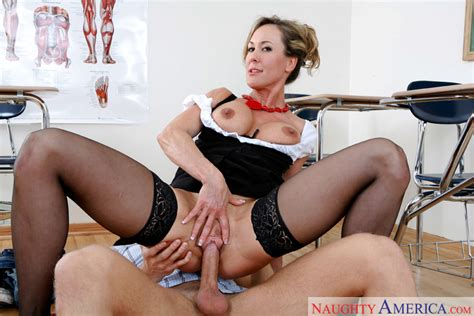 Mature Brandi Love Fucking In The Classroom With Her Tattoos