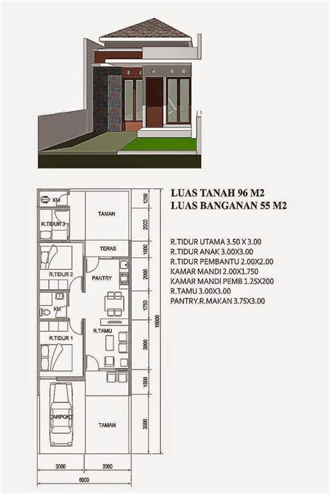 gambar rumah minimalis sederhana  denahnya gambar