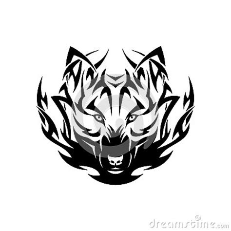 tatouage tribal de loup image stock image