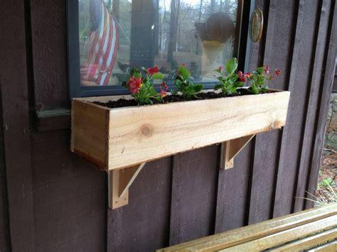 diy window flower box  supports