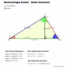 Fg Berechnen : wurzelziehen die formeln f r katheten und hypotenusen mathelounge ~ Themetempest.com Abrechnung