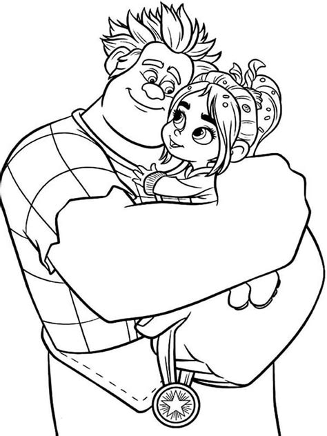 wreck  ralph coloring pages  printable wreck