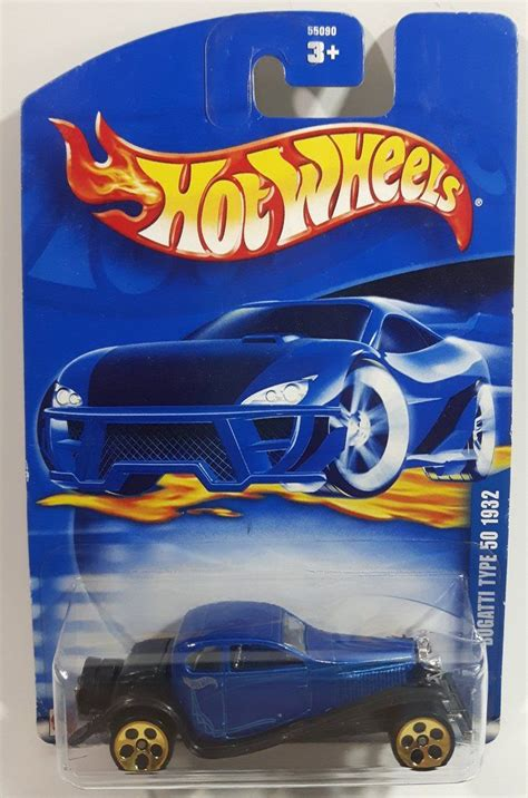 ✅ browse our daily deals for even more savings! 2002 Hot Wheels 1932 Bugatti Type 50 Blue Die Cast Toy Car Vehicle - New in Package   Carrinho