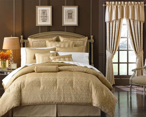 anya pale gold  waterford luxury bedding