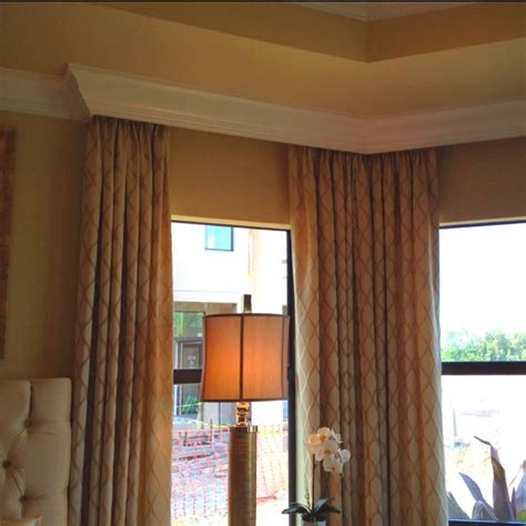 curtains  crown molding   idea